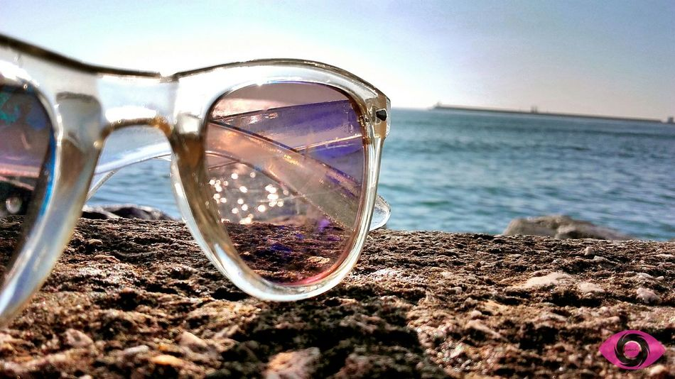 Summer is coming 😊 Different Beachphotography Summer Sunglasses ✌👌 Water Waves Sky