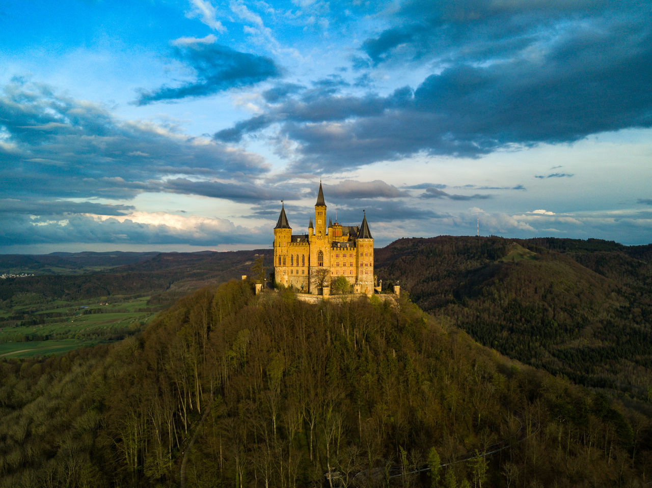 Architecture Castle Castle Cloud - Sky Dramatic Sky Drone  Dronephotography Fairytale  Fairytales & Dreams Frontal Shot Germany History Landscape Nature No People Outdoors Scenics Sky Sunset Travel Destinations