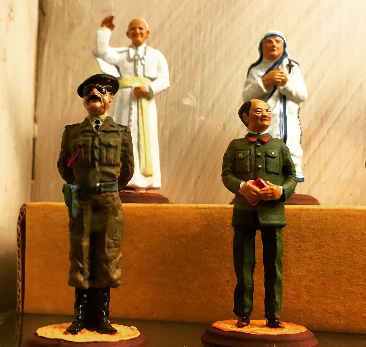 Saddam Hussein Chairman Mao The Pope Mother Teresa Models Display Italy Rome Small