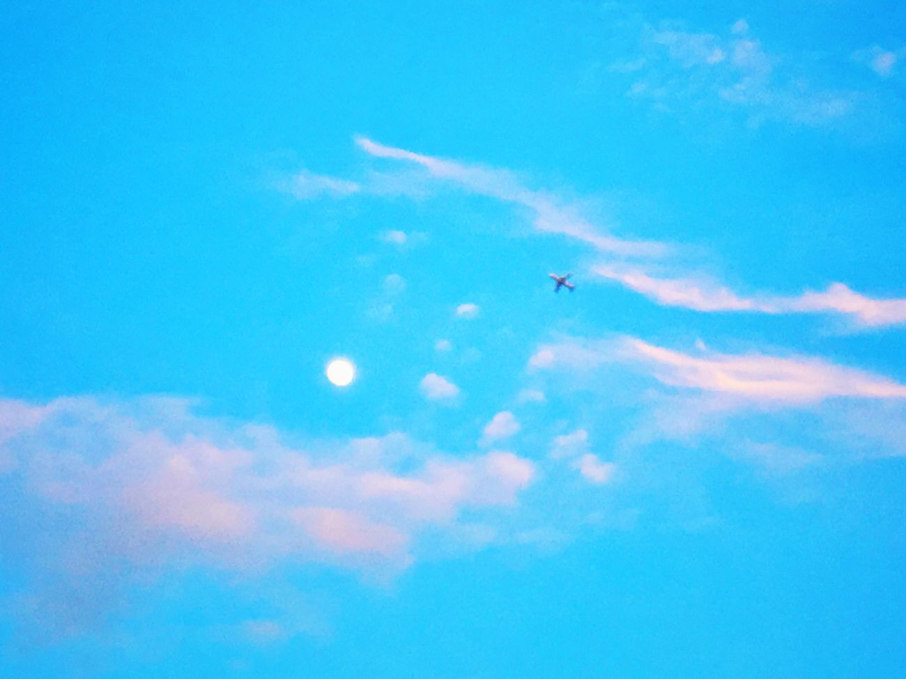 Sky And Clouds AirPlane ✈ The Moon Collection The Moon Blue Sky