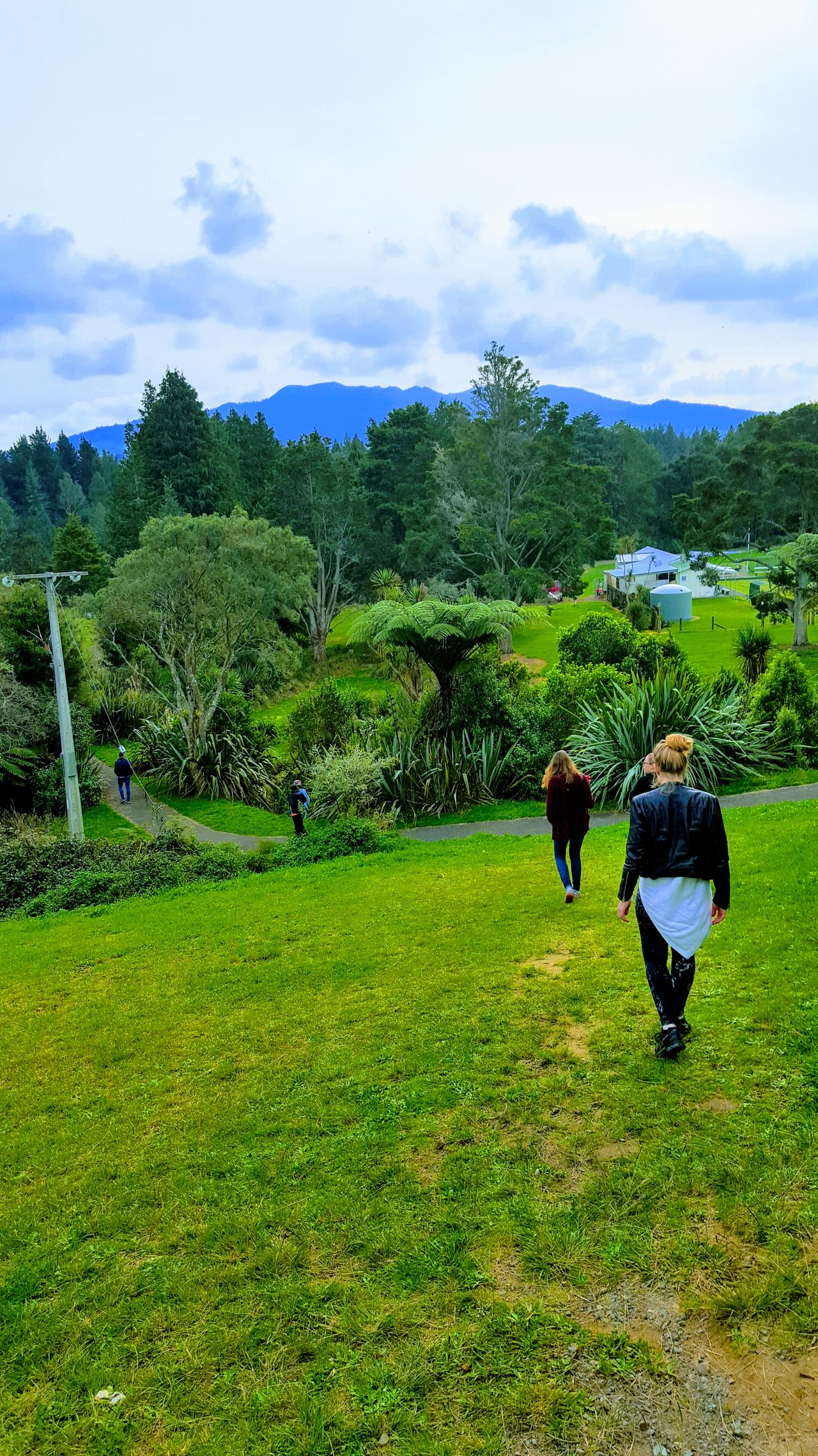 Adult Adults Only Beauty In Nature Cloud - Sky Day Grass Green Color Growth Landscape Lush - Description Nature One Person Outdoors People Real People Scenics Sky Tranquility Travel Destinations Tree Women