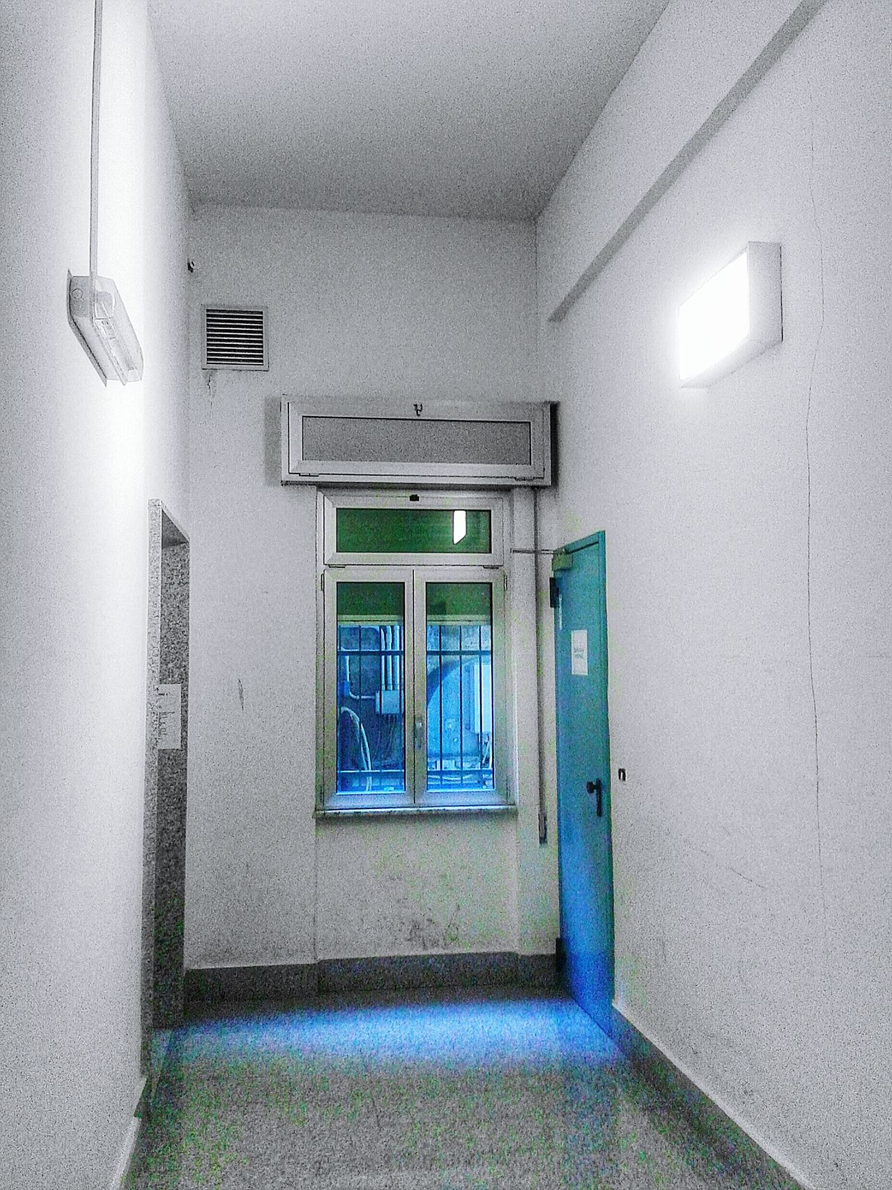 """""""Backdoor"""". Doors people are strange .... When You're Alone/ Window Corridor Interior Views Exploring The Unknown LOL S3mini Color Splash with Pixlr"""