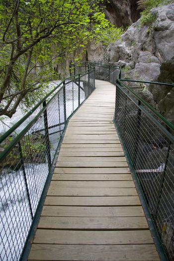 Turkey, Saklikent. Footbridge above gorges. Connection Famous Place Footbridge Leading Nature Perspective Protection Safety Saklikent Saklikent Canyon The Way Forward Turkey Fethiye