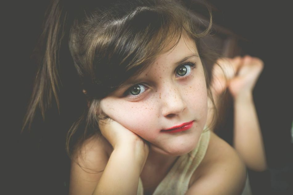 Beautiful stock photos of lips, Bangs, Brown Hair, Caucasian Ethnicity, Childhood