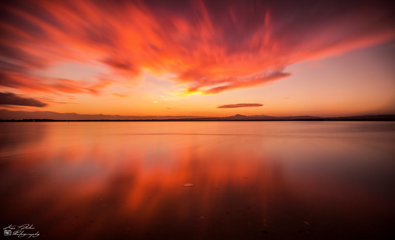 Beauty Clouds Clouds And Sky Dramatic Sky EyeEm Nature Lover Lake Landscape No People Orange Color Outdoors Sky Sunset Water