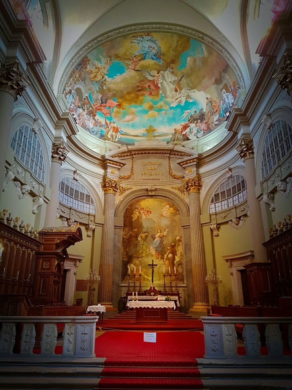 Vác-Hungary No People Fresco Church Hungary Vac