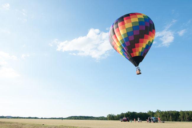 Colour Of Life Balloon Defiance ohio Richard V Stokes color Summer landscape Hot Air Balloon Sky clouds First Eyeem Photo Festival Season