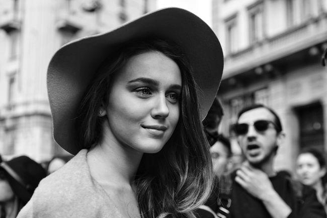 A voice in the background My Unique Style Milanofashionweek Mfw Fashionweek 2015 Street Fashion Blackandwhite Streetphoto_bw Street Photography