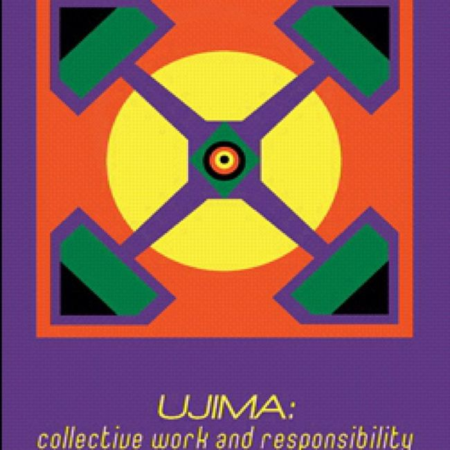 """The 3rd Principle of Kwanzaa is Ujima, which means Collective Work and Responsibility. It calls for us """"To build and maintain our community together and make out brother's and sister's problems our problems and to solve them together."""" Ujima CollectiveWorkAndResponsibility HappyKwanzaa CelebrateKwanzaa"""