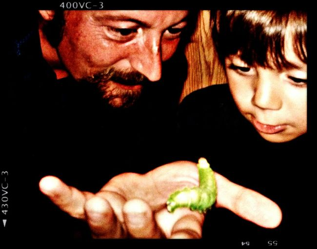 ...little sammy discovering a big green caterpillar with his uncle (circa 2011)... RePicture Growth Androidography Caterpillar Uncle And Nephew Big Green Caterpillar Beautiful World Kid Stuff Discovery Wide Eyed Wonder Sammy♡
