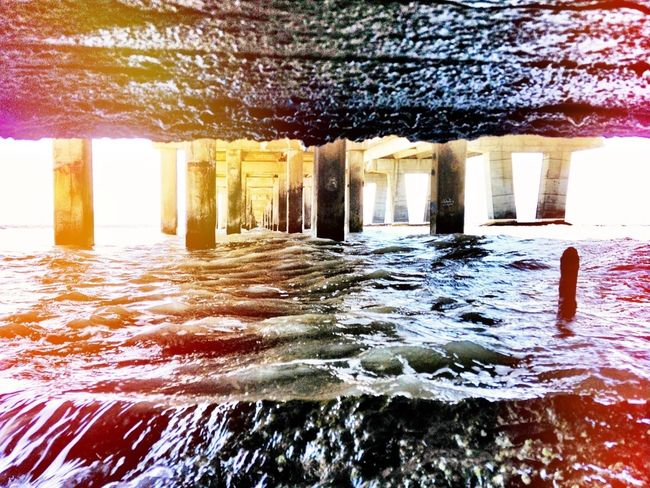 Water Under the Bridge. Edit - Iphoneography Hollingsworth Bay Area High Tide