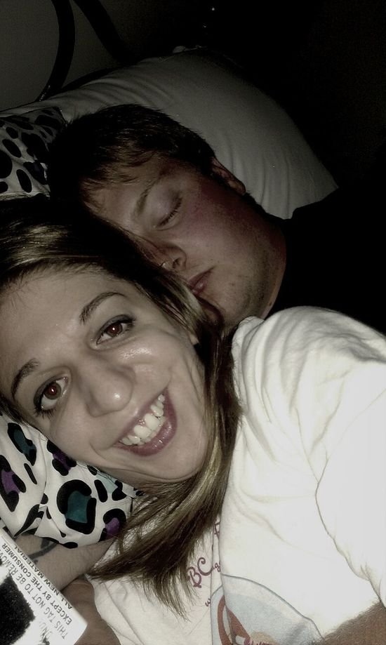 at home with my babe :) sound asleep ready to dream