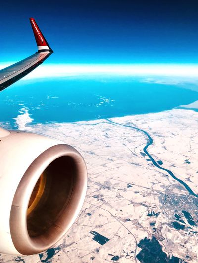 EyeEm Selects Transportation Scenics Flying Water Aircraft Wing Sky Day Travel