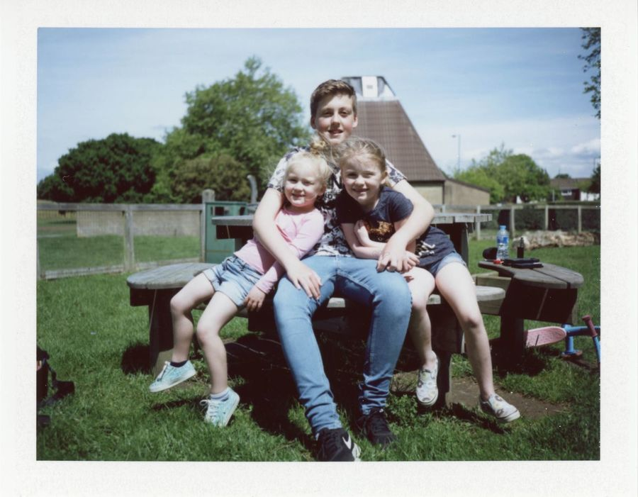 Portrait Togetherness Childhood Real People Happiness Brother & Sister Analogue Photography Fujifilm Fp-100c Polaroid Land Camera Automatic 350 The Portraitist - 2017 EyeEm Awards