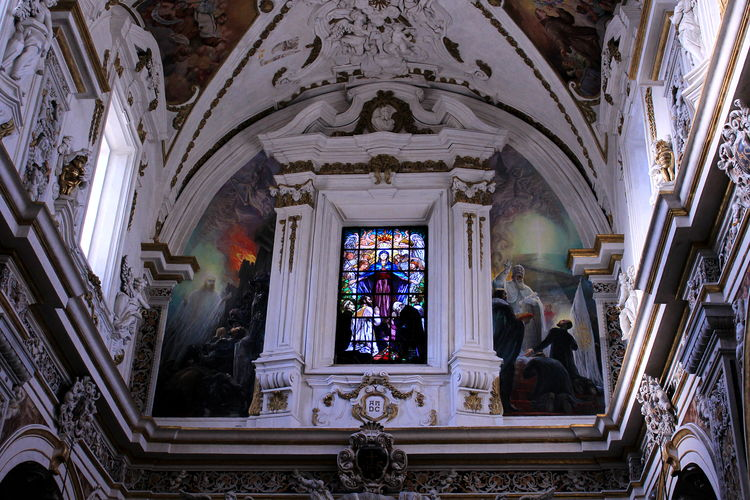 Architecture Arte Barocca Casa Professa Centro Storico Di Palermo Chiesa Del Gesù Finestre Human Body Part Indoors  Italy❤️ No People Palermo Place Of Worship Religion Sicily Spirituality Statue Vetrate Colorate Window