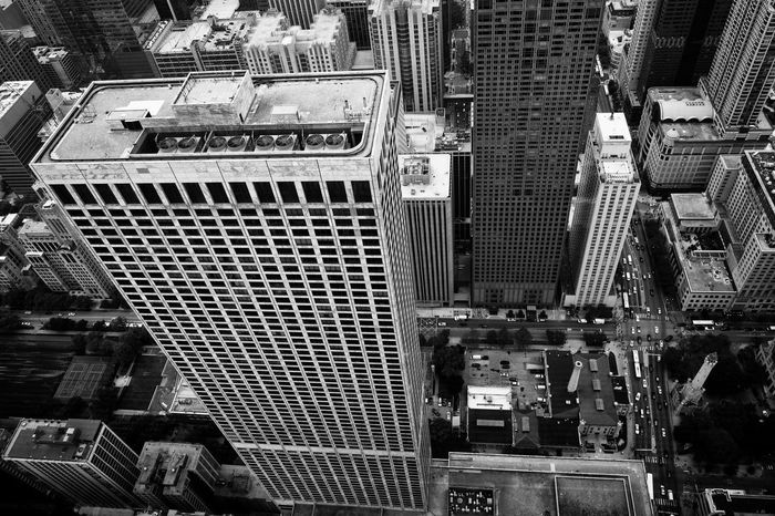 Air Conditioning Chicago From Above  Looking Down Abyss Architecture Building Exterior Built Structure City City Canyon Cityscape High Angle View Skyscraper Transportation