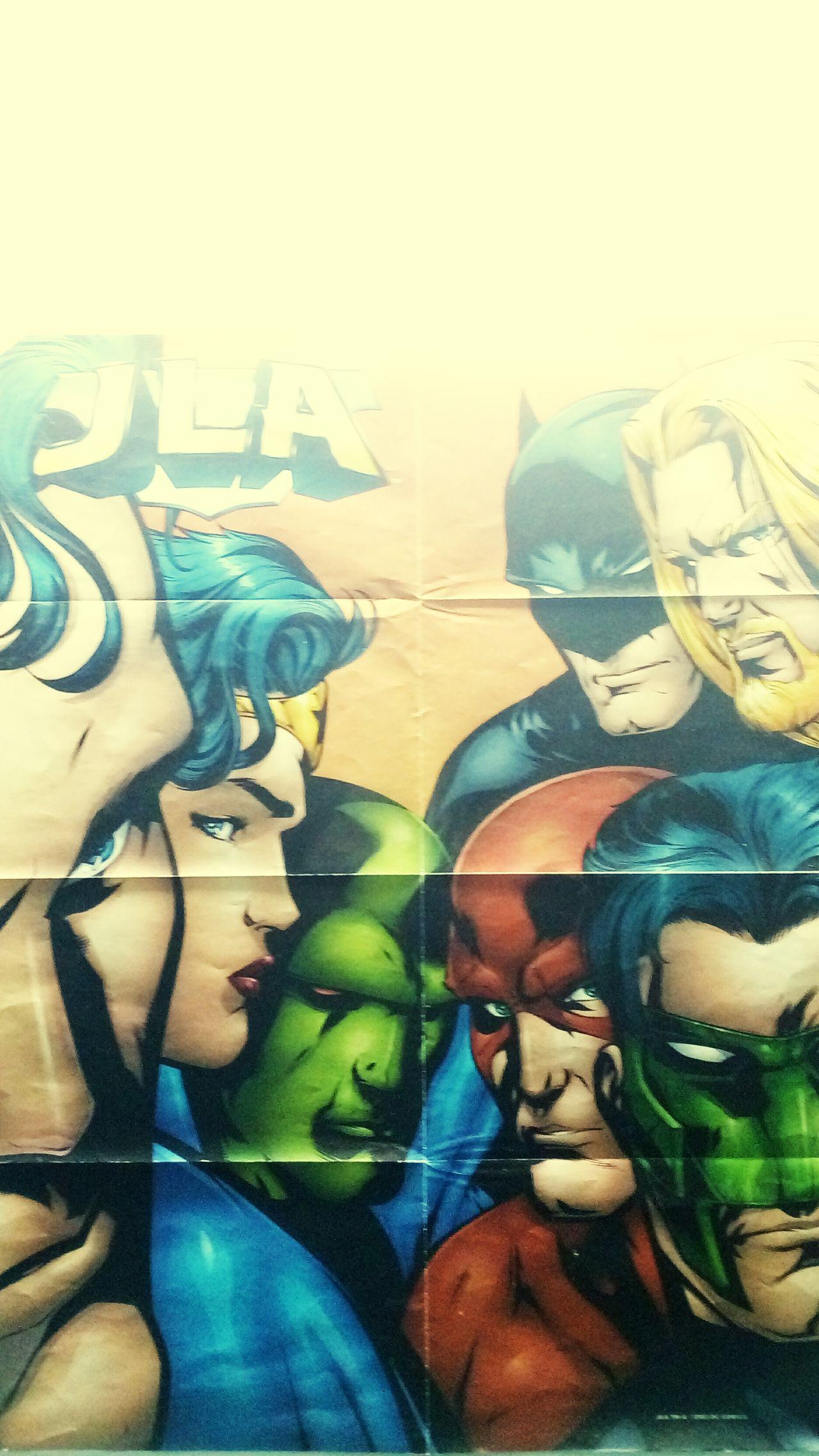 JLA Posters DC Wall Art Batman Superman Wonder Woman Aquaman THE MANHUNTER Flash Green Lantern