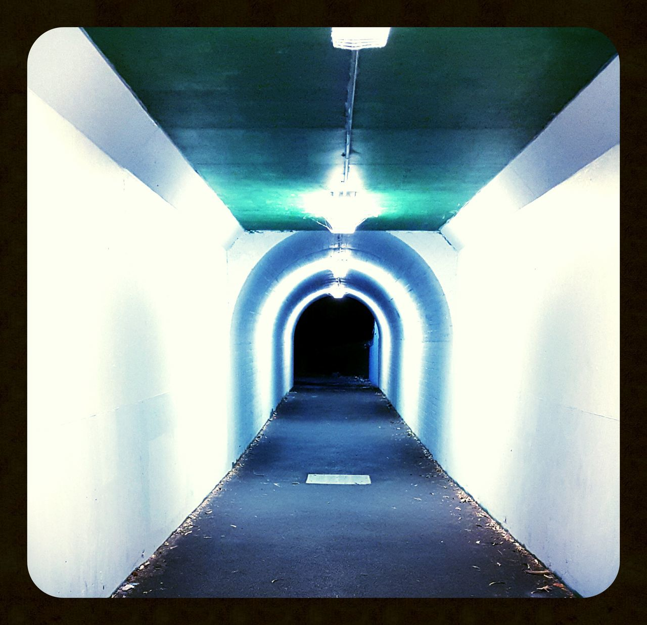 the way forward, illuminated, lighting equipment, diminishing perspective, architecture, built structure, indoors, empty, tunnel, no people, day