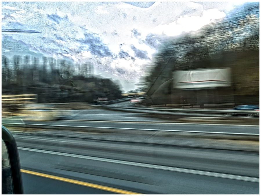 on the road Blurred Motion Car Car Window Driving Driving Fast Fast Motion Fast Moving Cars Motion On The Highway On The Move Reflections Road Need For Speed