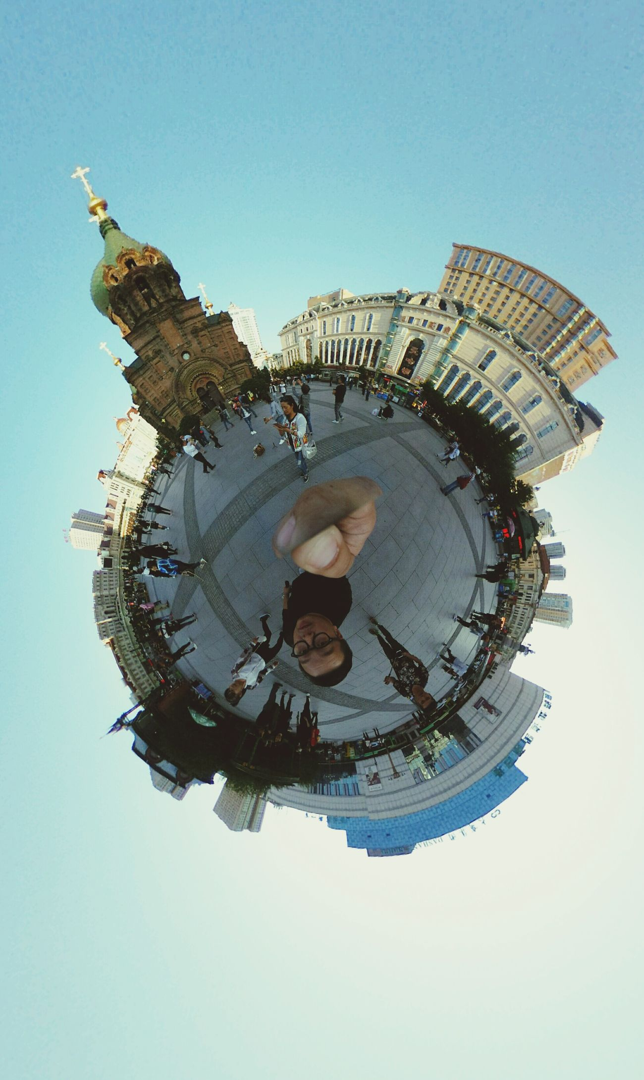 St. Sofia Church Clear Sky Little Planet 360° Ricohtheta Harbin Travel Destinations Tourism Outdoors