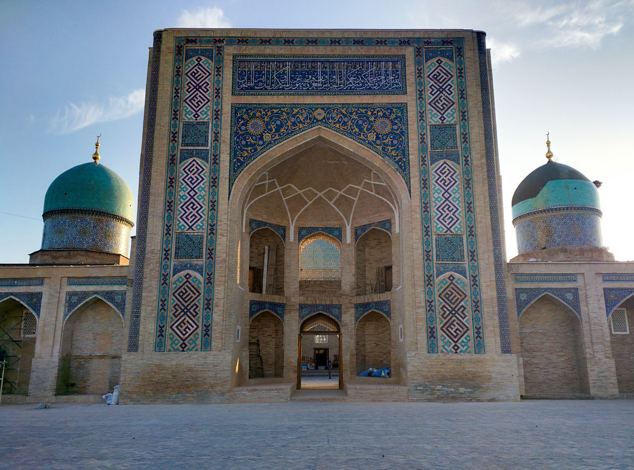 Arch Architecture Built Structure Day Dome History Islamic Islamic Architecture Islamic Art Mosque No People Outdoors Religion Silk Road Sky Tashkent Travel Destinations