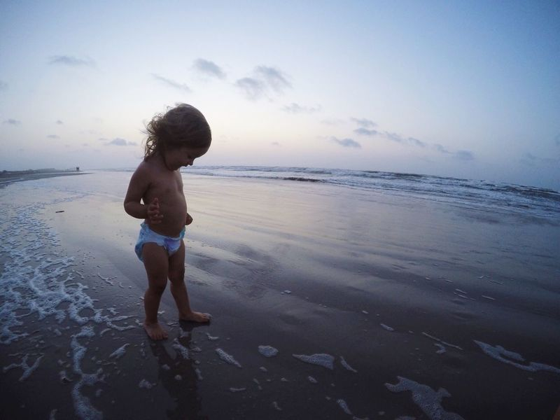 She is such a beach baby! Beach Beach Baby Sunrise Shore