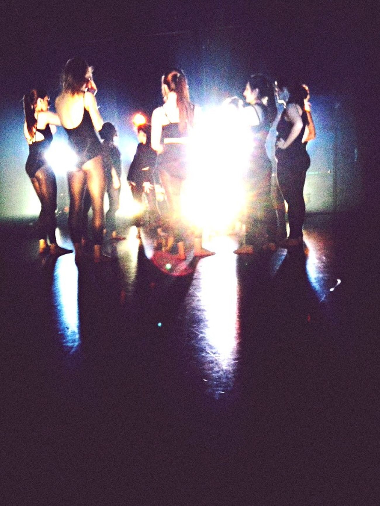 Teching Dance Dancer Leotard Lights Dancing