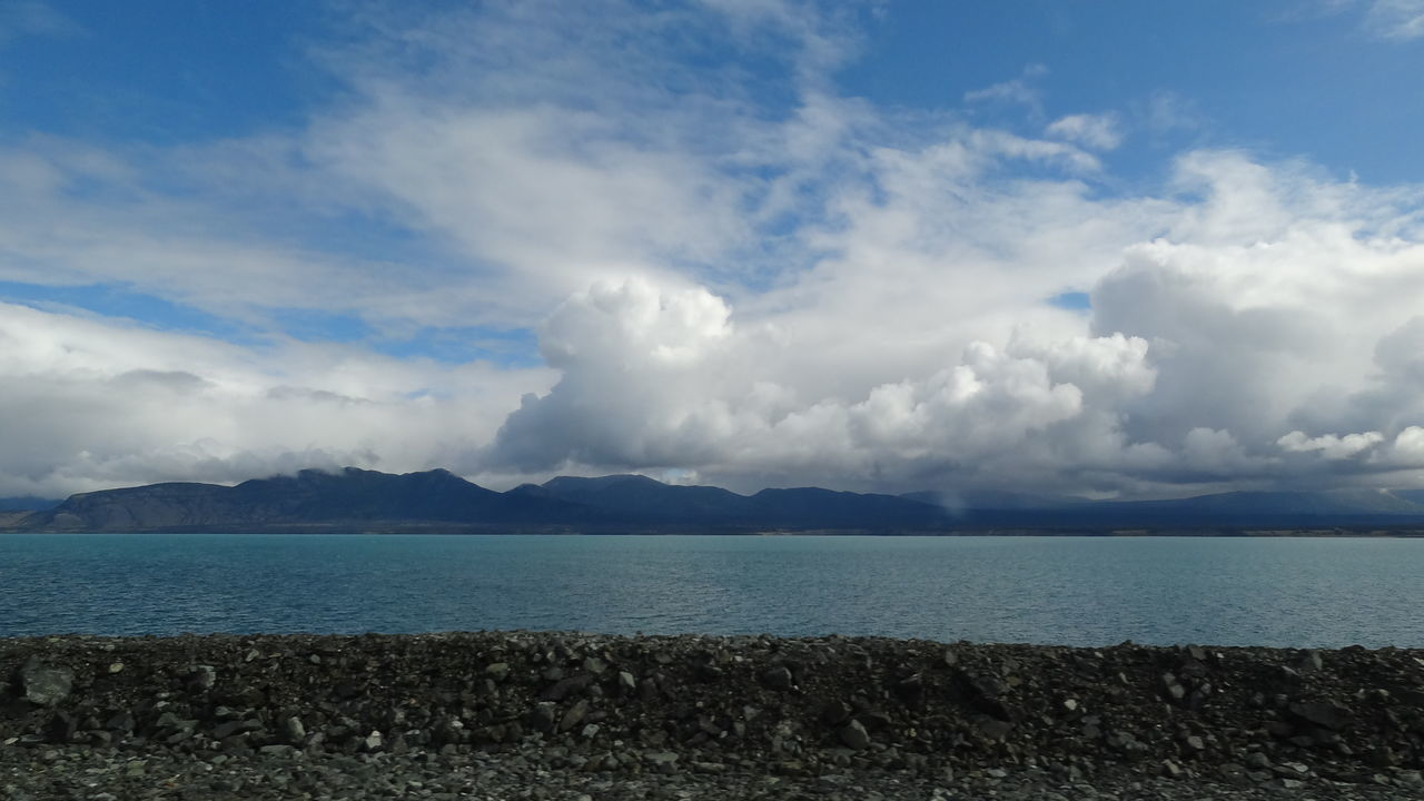 Beach Beauty In Nature Blue Canada Cloud - Sky Day Horizon Over Water Kluane Lake Kluane National Park & Reserve Landscape Mountain Nature No People Outdoors Scenics Sky Tranquil Scene Tranquility Water Yukon