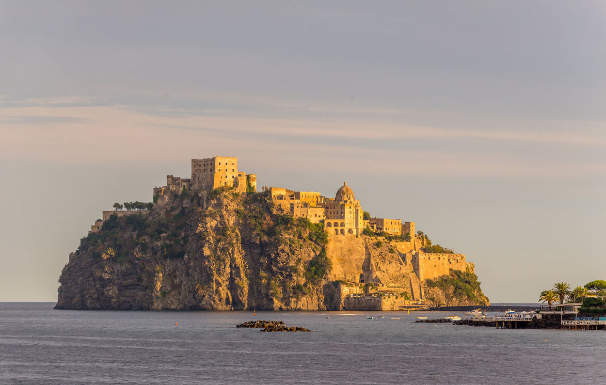 Castello Aragonese Castle Cityscape Naples Napoli Architecture Beauty In Nature Building Exterior Built Structure Day Huntergol Landscape Nature No People Outdoors Scenics Sea Sea And Sky Sky Travel Destinations Water Waterfront