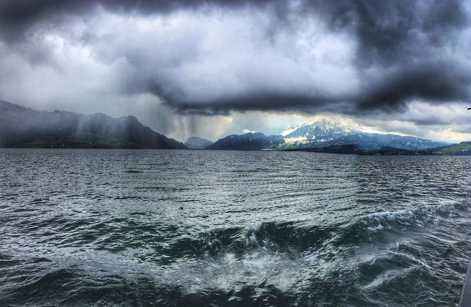On the boat of the Lake Luzern Switzerland
