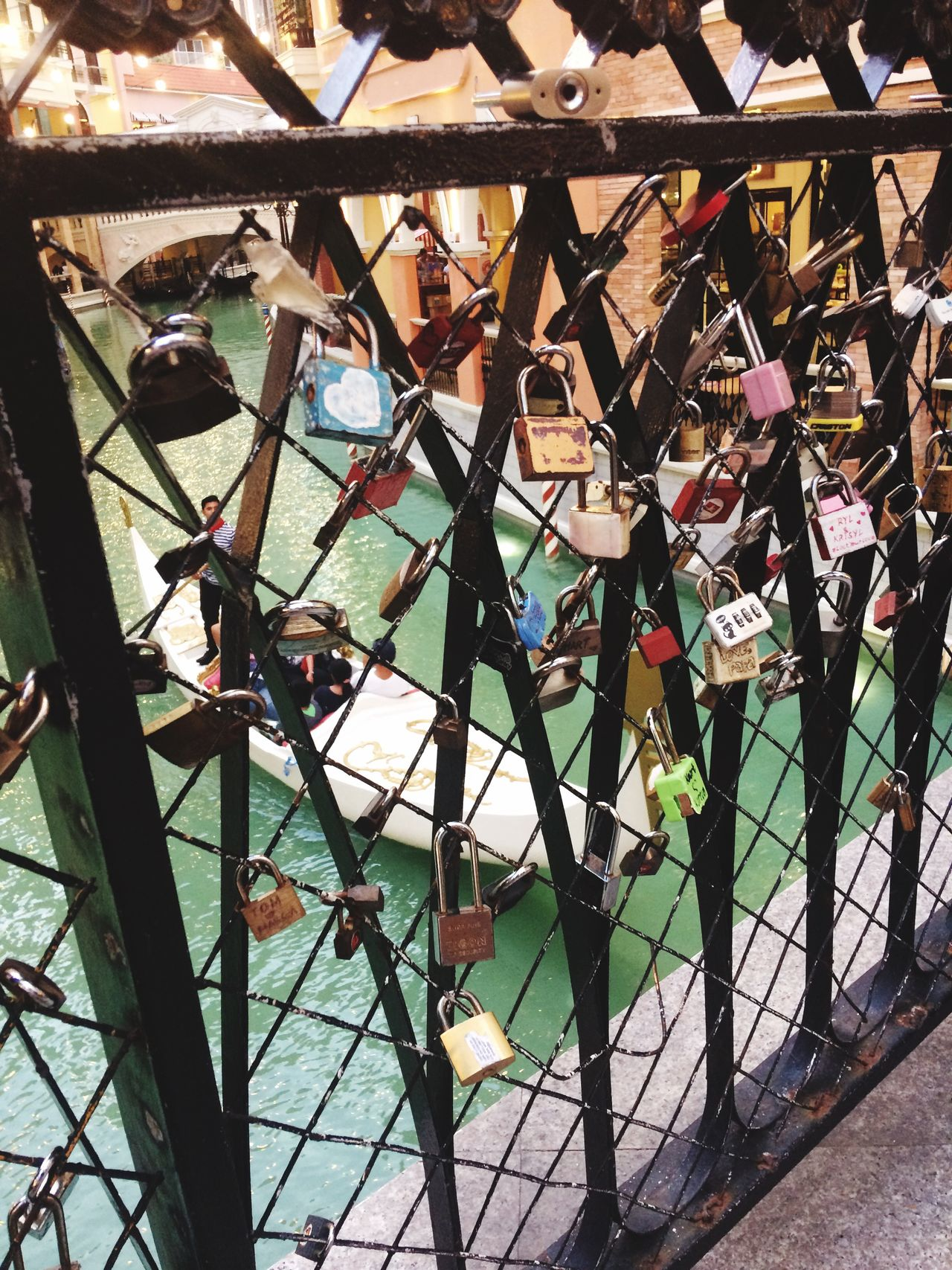 Makati City, Philippines Adventure Boat Water Venice Lookalike Vacay Family Time Philippines Locks Chainlink Fence Romance