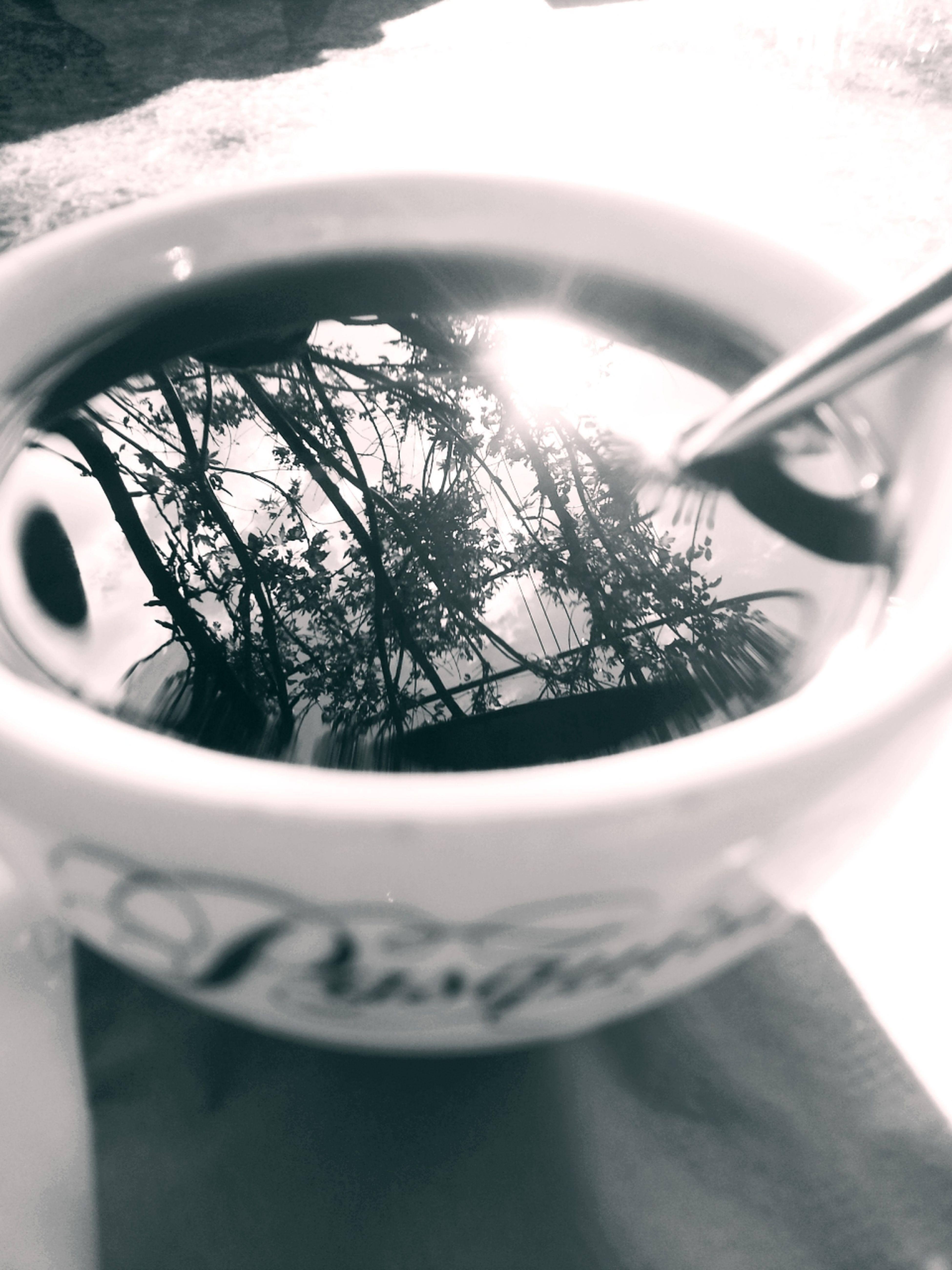 Coffee at the Desert Rose. Los Angeles Blackandwhite Reflection Monochrome
