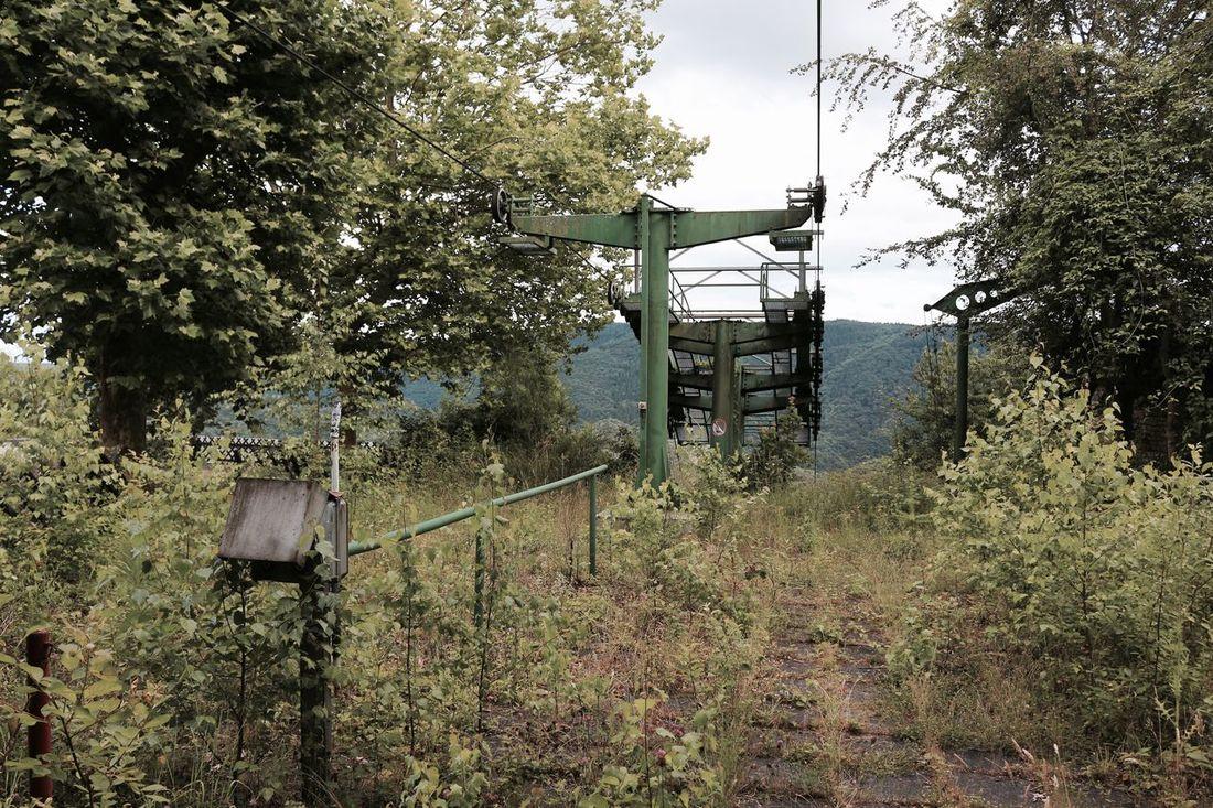 Die verlassene Bergstation der Sesselbahn Altenahr, Rheinland-Pfalz. Ropeway Seilbahn Chairlift Altenahr Ahr Lostplaces Lostplace Lost Places LSAP Nature Non-urban Scene No People Tranquil Scene