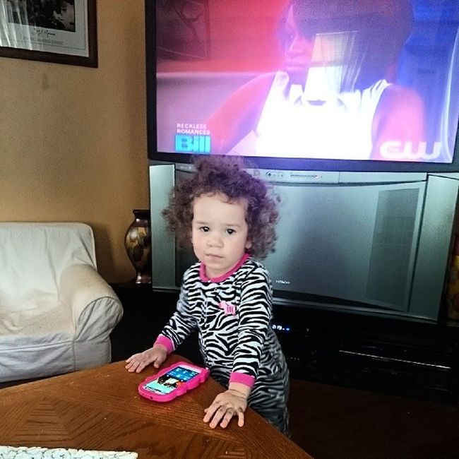 2 yr olds know how to have full fledge phone convos on speaker phone these days MyNeice Family