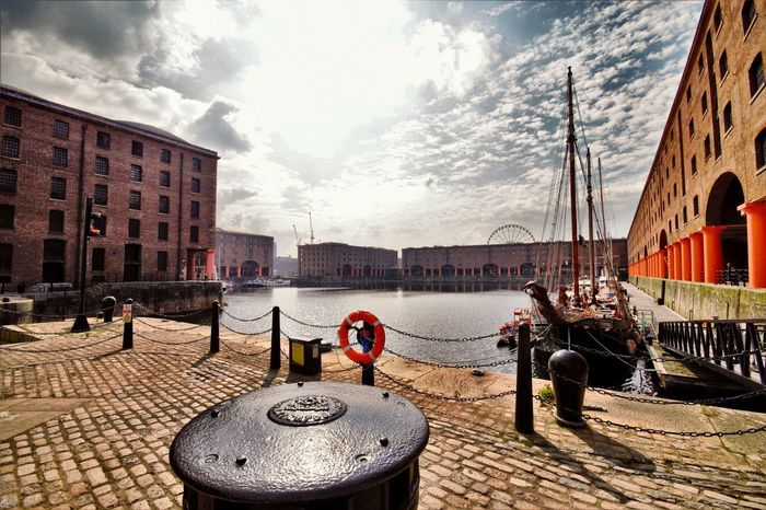 Liverpool Docks Liverpool, England Albert Docks Albert Dock Merseyside Liverpool Old Building  Maritime Docks Merseyside Maritime Museum Buildings & Sky