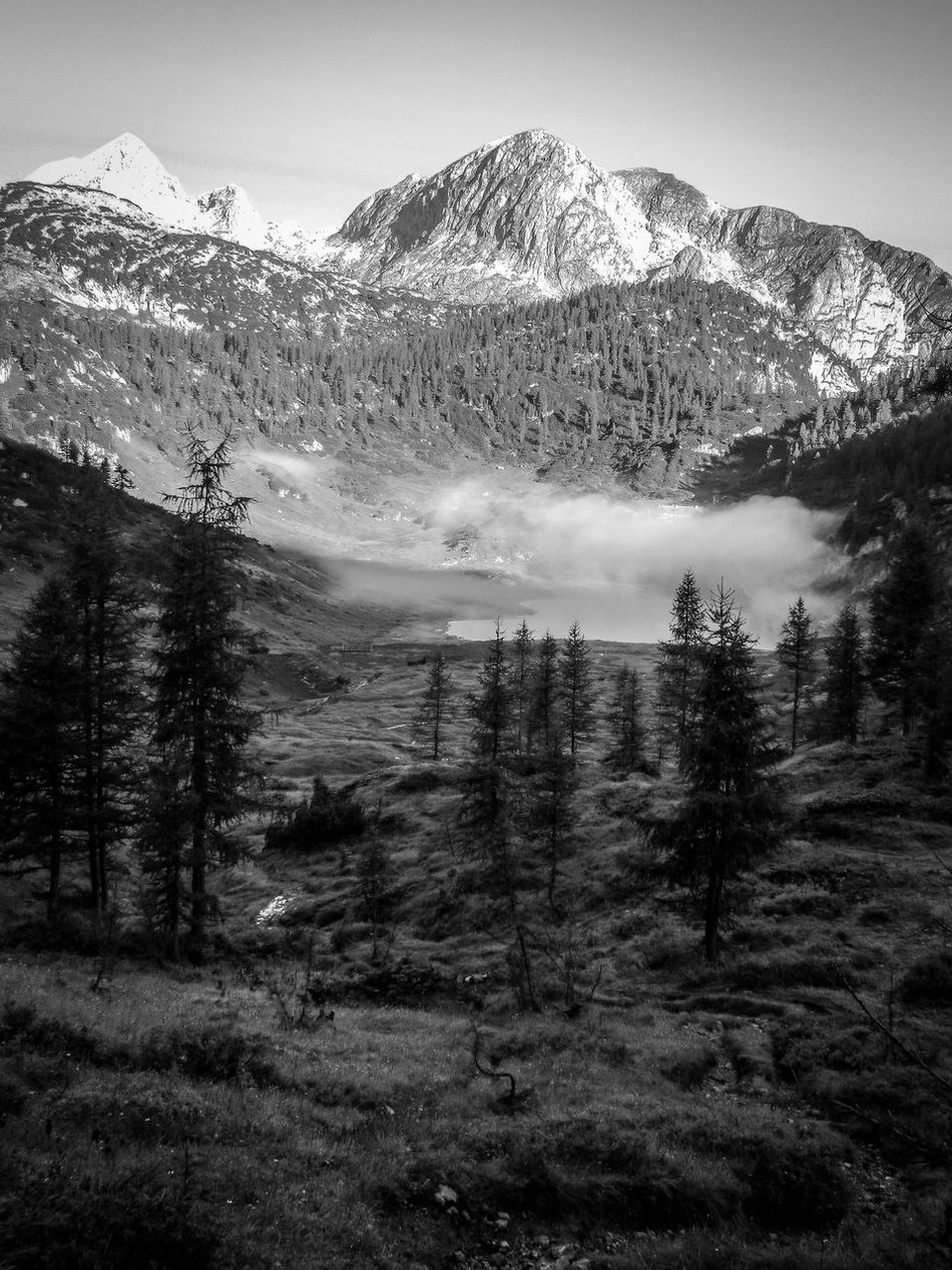 Auf dem Weg The Great Outdoors - 2016 EyeEm Awards Hiking Mountains Mountain Hiking Morning Sun Lake Fog Trail Funtensee Steinernes Meer Blackandwhite Black And White Adobelightroommobile The Great Outdoors With Adobe