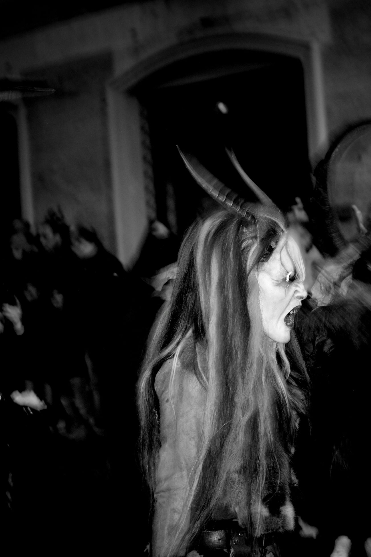 Demon Horns Night Photography Nightphotography Costume Krampus Bnw_collection Black And White B&w Street Photography Streetphoto_bw Italy Italia Macomer Sardegna Sardinia Sardegna Italy  Nikon D5200