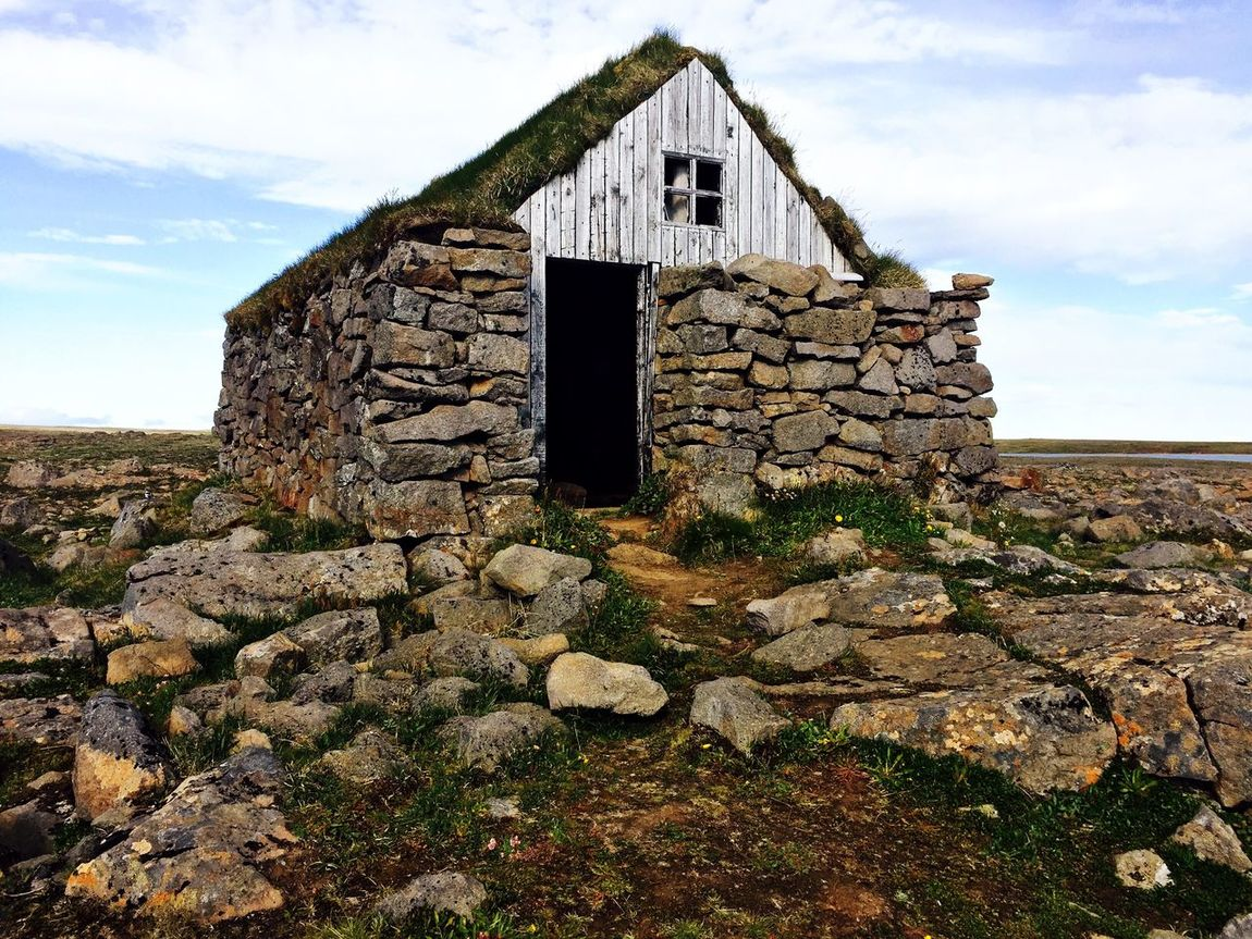 Old torfbæir (turf house) by the road, North Iceland, 2016 Iceland Roadtrip Turf Houses