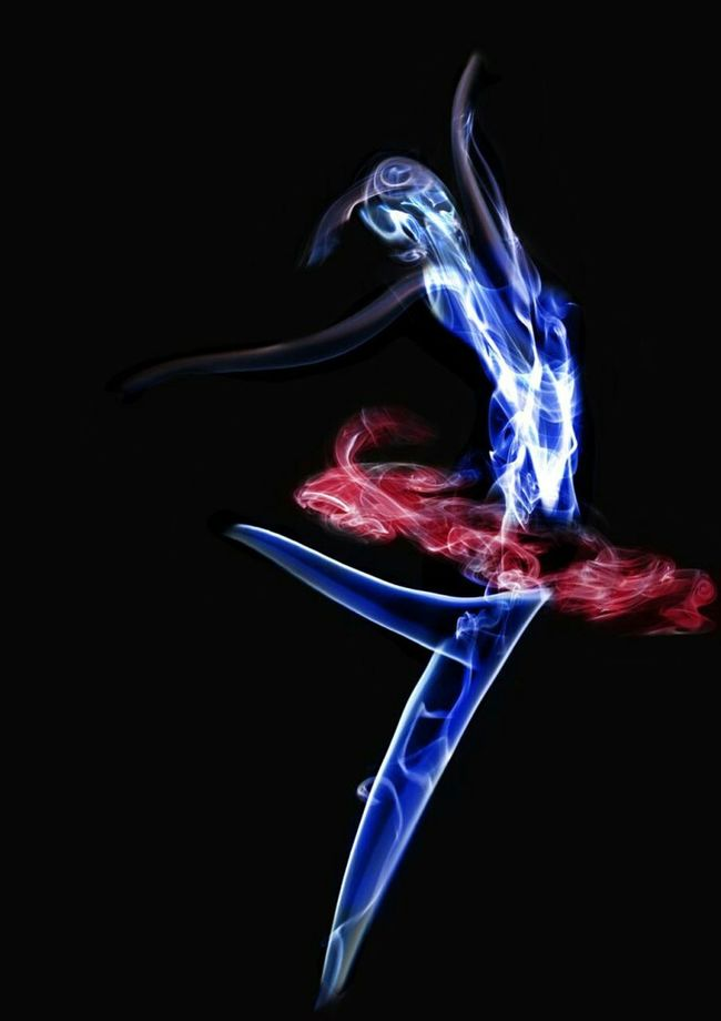 Creative Light And Shadow this Ballerina is made of smoke and color. Getting Inspired