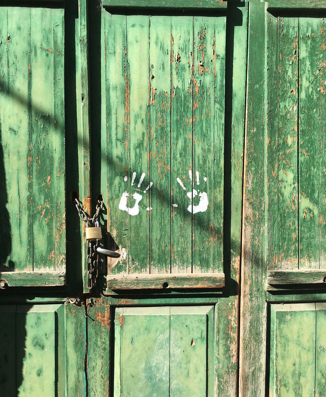 Door Green Lock Locks Old Old Buildings Old Town Old Wood Old-fashioned Wood Wood - Material Wooden Door