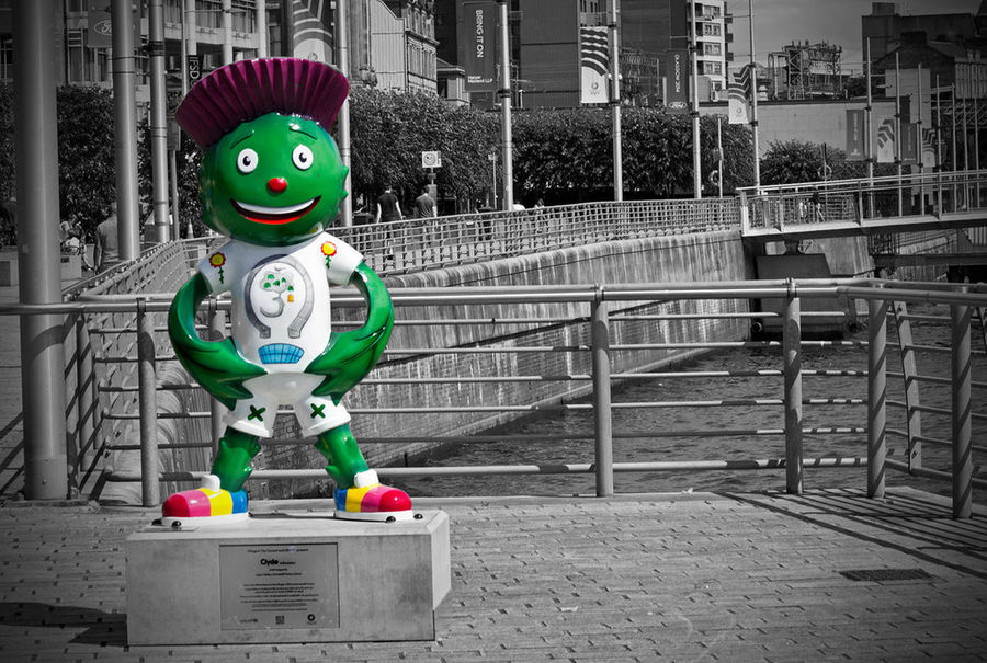 Clyde the Commonwealth Games Mascot Glasgow