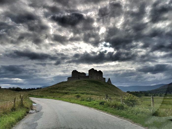 Cairngorms Scotland Ruthven Barracks From The Road Landscape