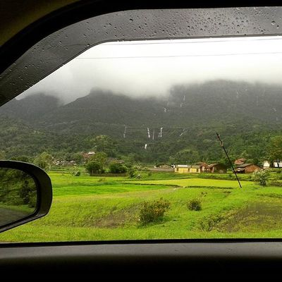 lush green landscape for a perfect sunday Nature Car Drive Moutain clouds rain monsoon nashikgram nashik devlali happiness maharashtra india @narendramodi @natgeo @indiabestpic instagood nasik beautiful scenery