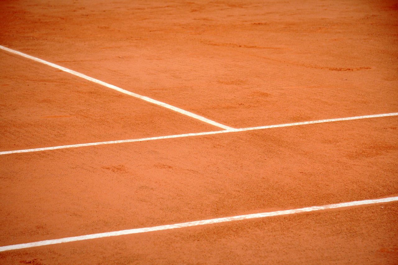 Untitled - Pursuit of passion Sport Tennis Outdoors Backgrounds Court No People Full Frame Day Competitive Sport Clay Court Clay Tennis Court Tennis Court LINE Clay Court DeeArt Canon Untitled Photography Untitled