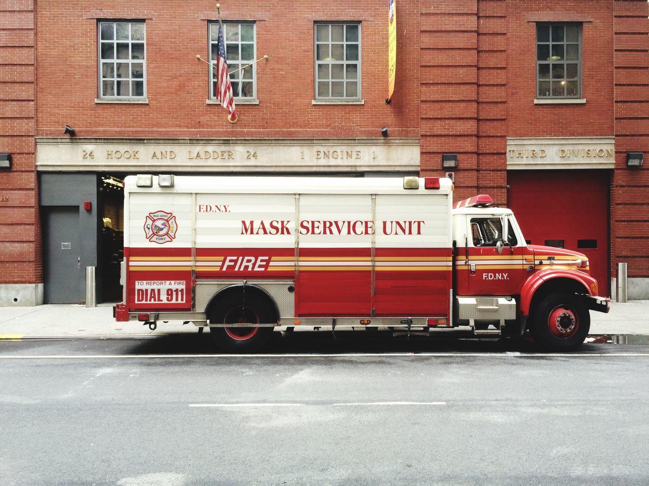 Fire Station Vintage Firetruck Firetruck New York City