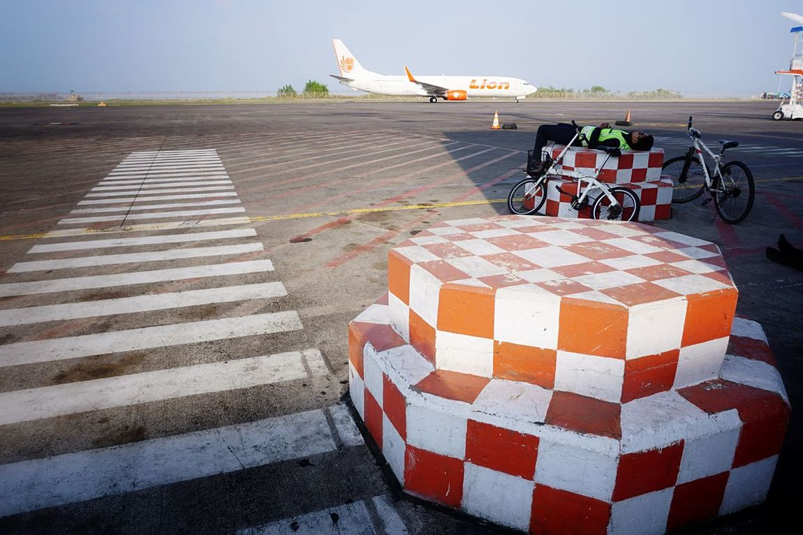Night Night, Sleep Tight Sleep At The Airport Nap Time Take A Nap SiestaTime Airportphotography Airport Runway Airport Denpasar Bali Airport INDONESIA Showcase June People And Places The City Light