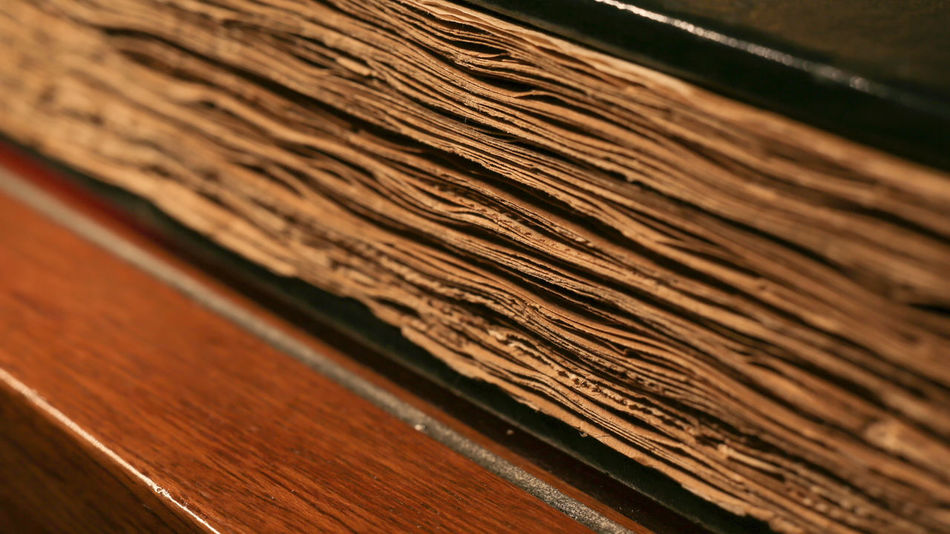 Backgrounds Book Brown Close-up Education Heritage History Knowledge Old Selective Focus Valuable Wood - Material