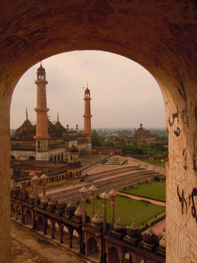 01183 Bara Imambara-Lucknow-India Ancient Arcade Arch Architectural Feature Architecture Archway Building Exterior Built Structure Culture Day Eiffel Tower Famous Place Historic History International Landmark Mausoleum Monument Sky Taj Mahal Tall - High The Past Tourism Tower Travel Destinations Vacations