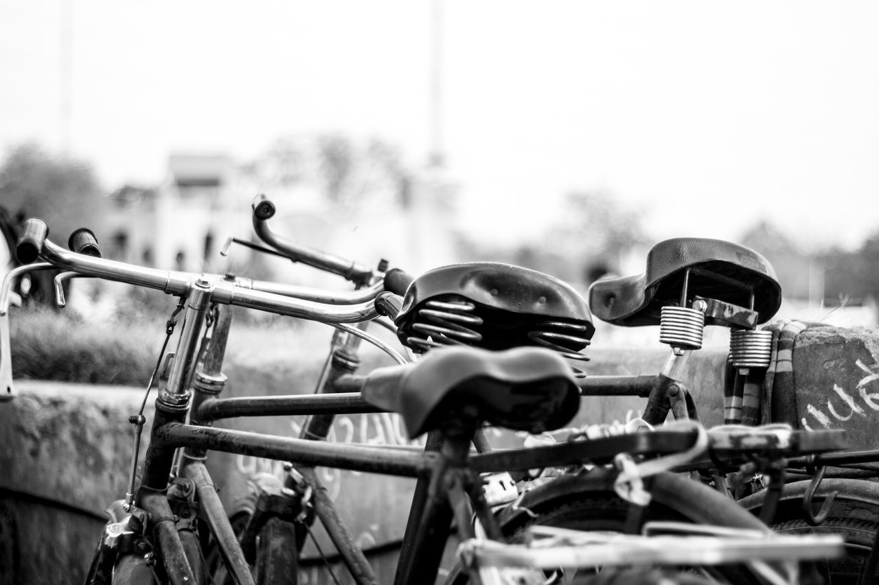 Select and ride your own Absence Bicycle Blackandwhite Object Obsolete Occupation Old Style Old-fashioned Out Of Date Outdoors Parked Parking Vehicle