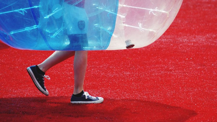 'Imminent' The Color Of Sport Red Vibrant Color Zorbing Zorb Sport Astroturf Power League  Children Excercise Fun Play -- B